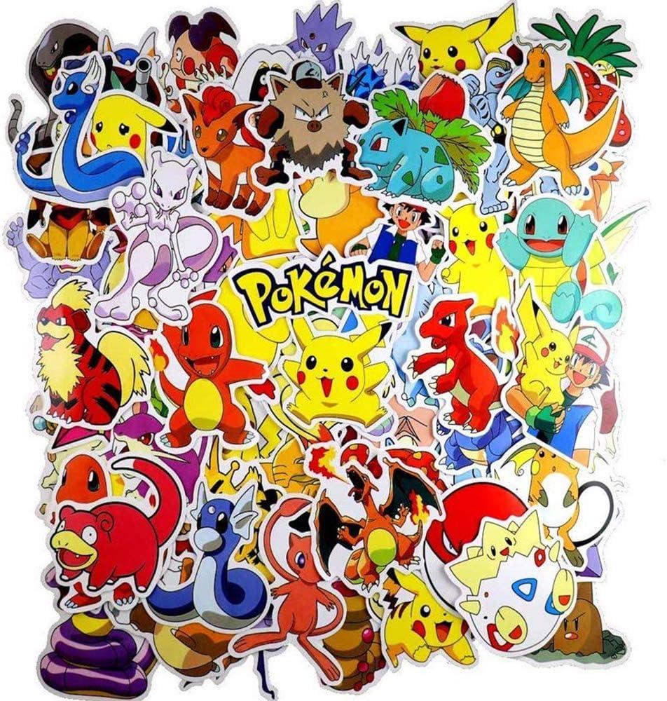 WayOuter Pokémon Pegatinas 80pcs Únicas y Frescas para Niños ...