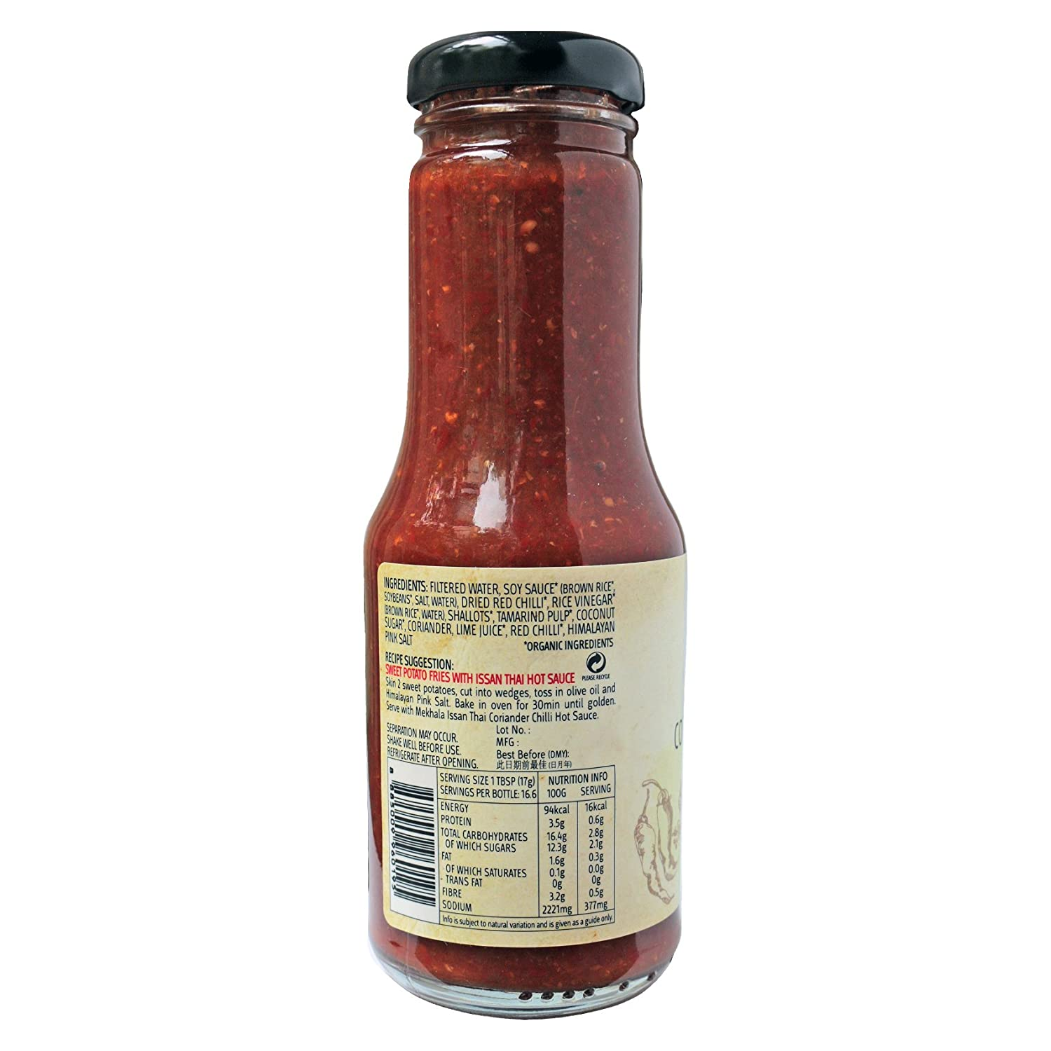 Amazon.com : Mekhala Organic Gluten-Free Thai Hot Chili Dipping Sauce 250ml/8.45fl oz (Cilantro) : Grocery & Gourmet Food