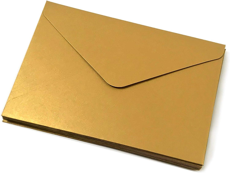 formato A6 formato C6 vacanze matrimoni per feste autosigillanti triangoli 10 pezzi Blu reale. biglietti di auguri con bordo dorato Buste per inviti di qualit/à 100 g//mq