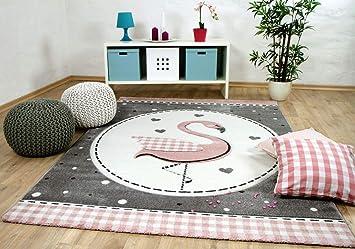 Pergamon Kinder Teppich Maui Kids Pastell Rosa Flamingo in 5 Gr/ö/ßen