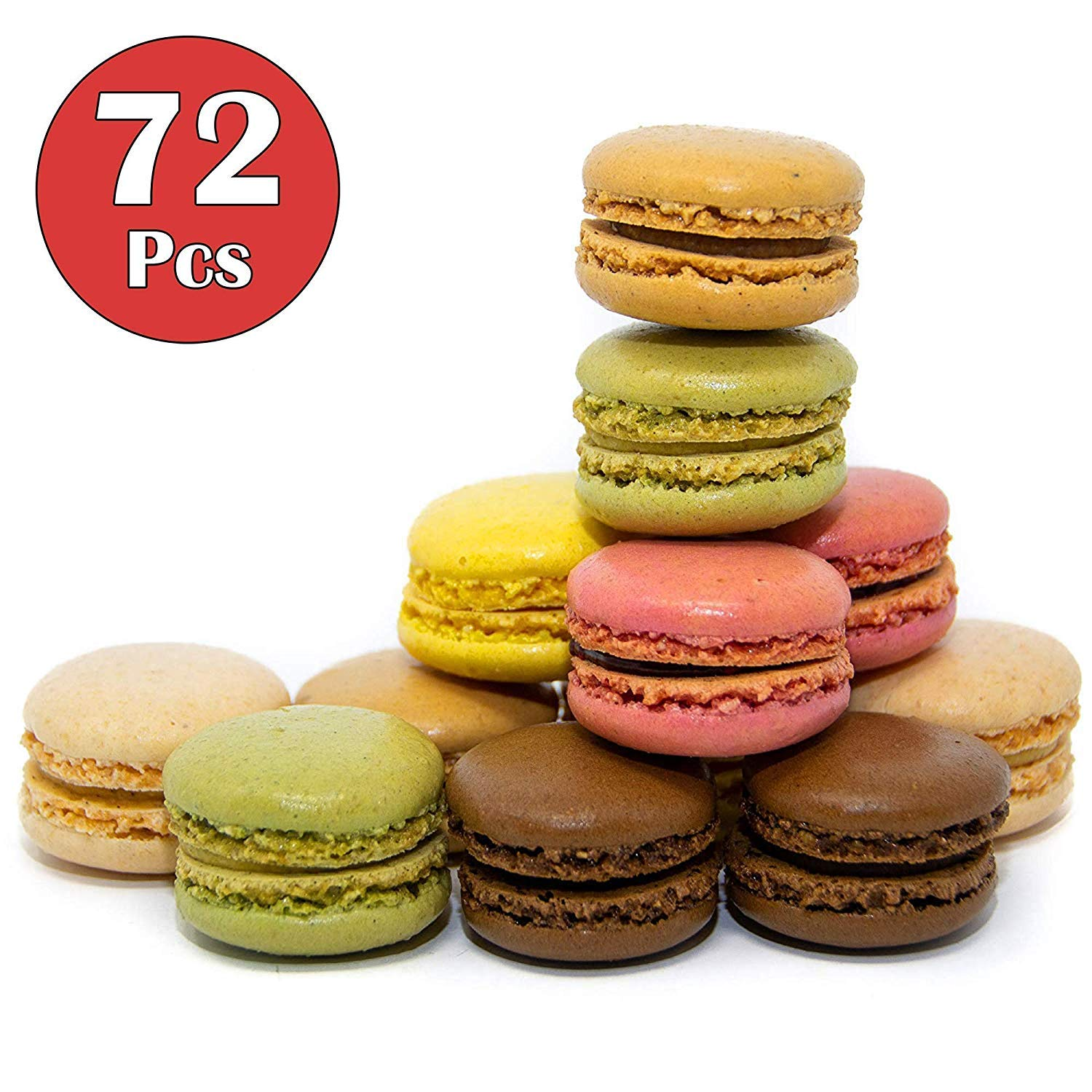 French Almond Macarons Gift - 72 pcs - Assorted Macaroons Cookies - Imported From France