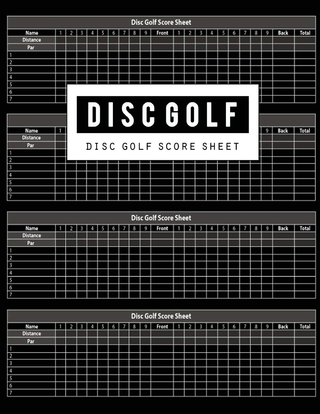 image about Disc Golf Scorecard Printable identify Disc Golfing Ranking Sheet: Disc Golfing Activity Heritage Keeper Ebook