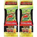 Good Seasons Salad Dressing & Recipe Kit, Cruet with 2 Count Italian Dressing Mix (2 Cruets, 4 Mixes)