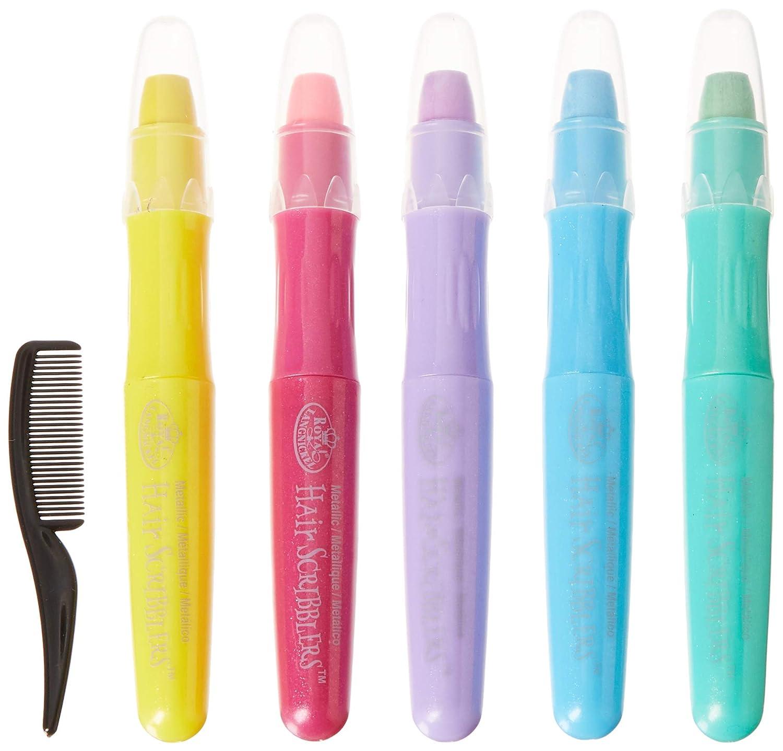 Royal /& Langnickel Hair Scribblers Metallic Coloured Pastel Pens