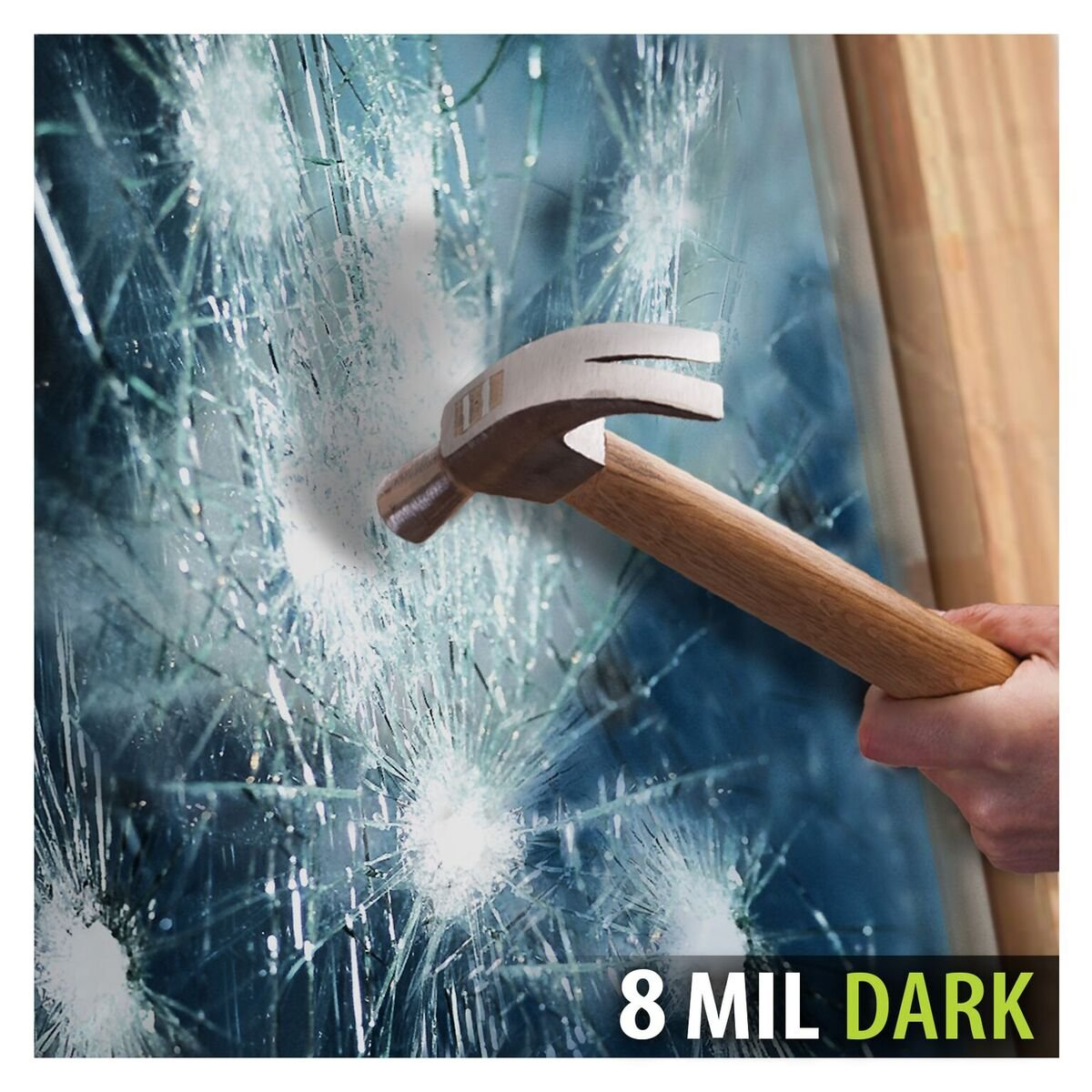 BDF S8MB20 Window Film Security and Privacy 8 Mil Black 20 (Dark) - 48in X 49ft