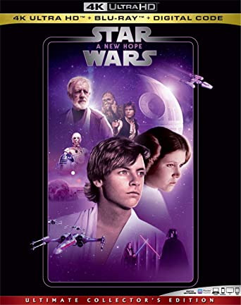 Amazon Com Star Wars A New Hope Blu Ray Mark Hamill Harrison Ford Carrie Fisher Peter Cushing Alec Guinness Anthony Daniels Kenny Baker Peter Mayhew David Prowse James Earl Jones Phil Brown Shelagh Fraser