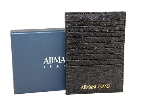 Armani Jeans 928504 - Cartera para hombre de Sintético Hombre Negro Negro B 10 x H 14: Amazon.es: Zapatos y complementos