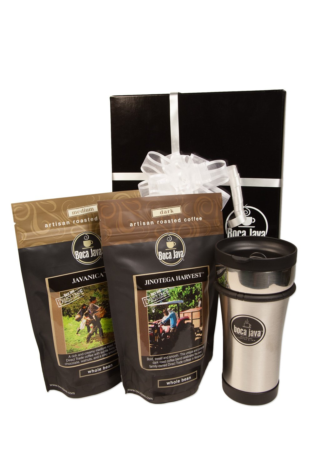 Boca Java Roast to Order Coffee, Direct Trade Coffee Gift Set - Whole Bean Coffee