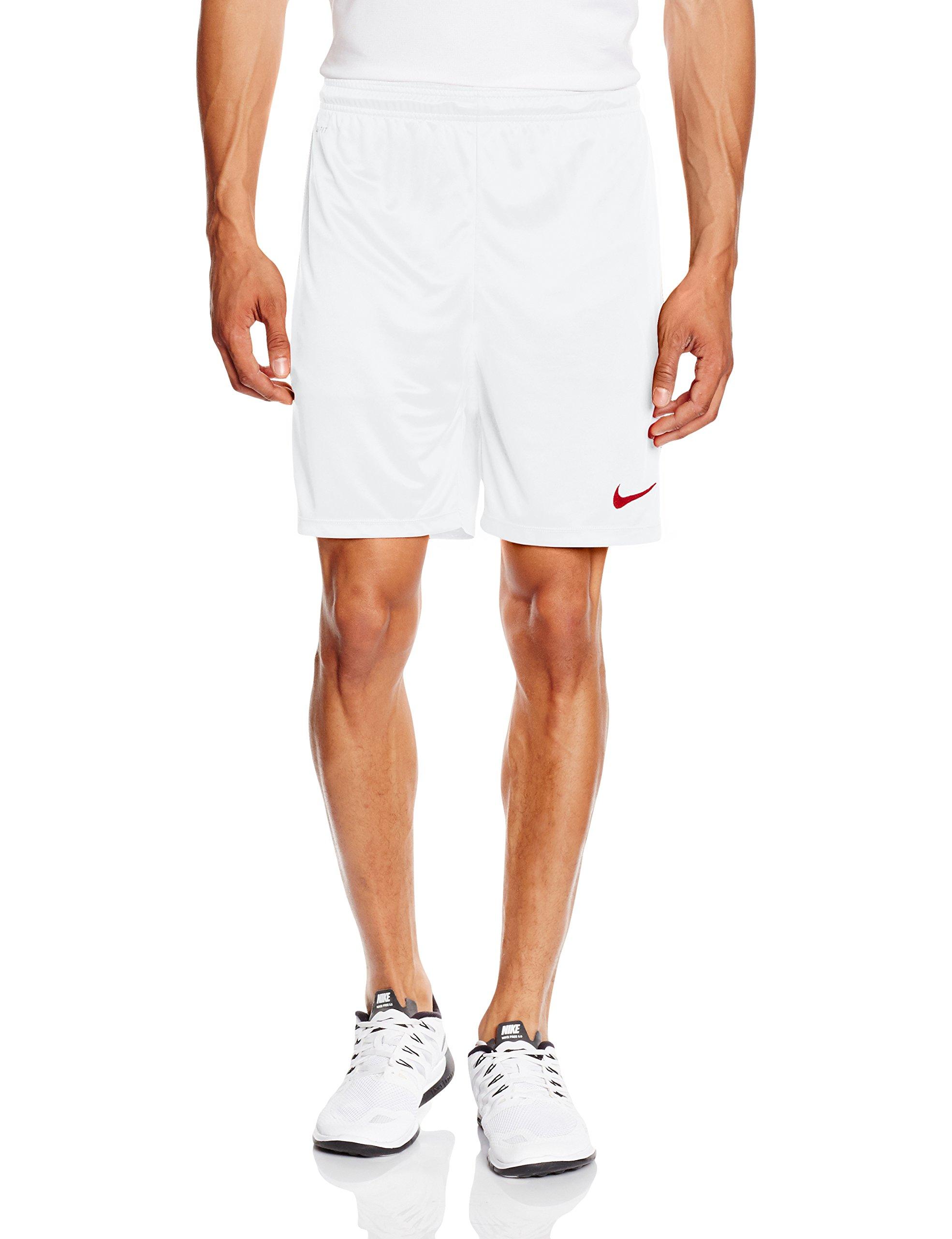 Nike Park II Knit Short NB Pantalón corto, Hombre, Blanco/Rojo (White