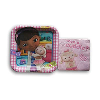Doc McStuffins Party Supply Kit - Dinner Plates and Napkins: Toys & Games