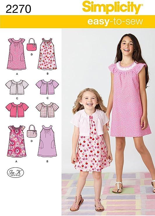 Simplicity K5 7 – 8-10 – 12 – 14 Patrones de Costura para para ...