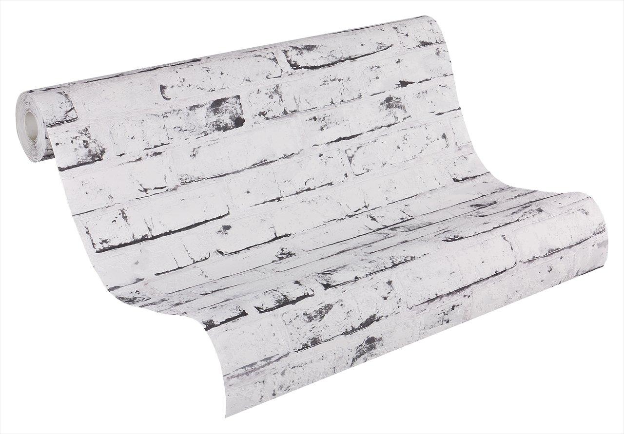 A.S. Cré ation papel pintado de tejido-no-tejido New England beige gris 10, 05 m x 0, 53 m 907837 A.S. Creation 9078-37