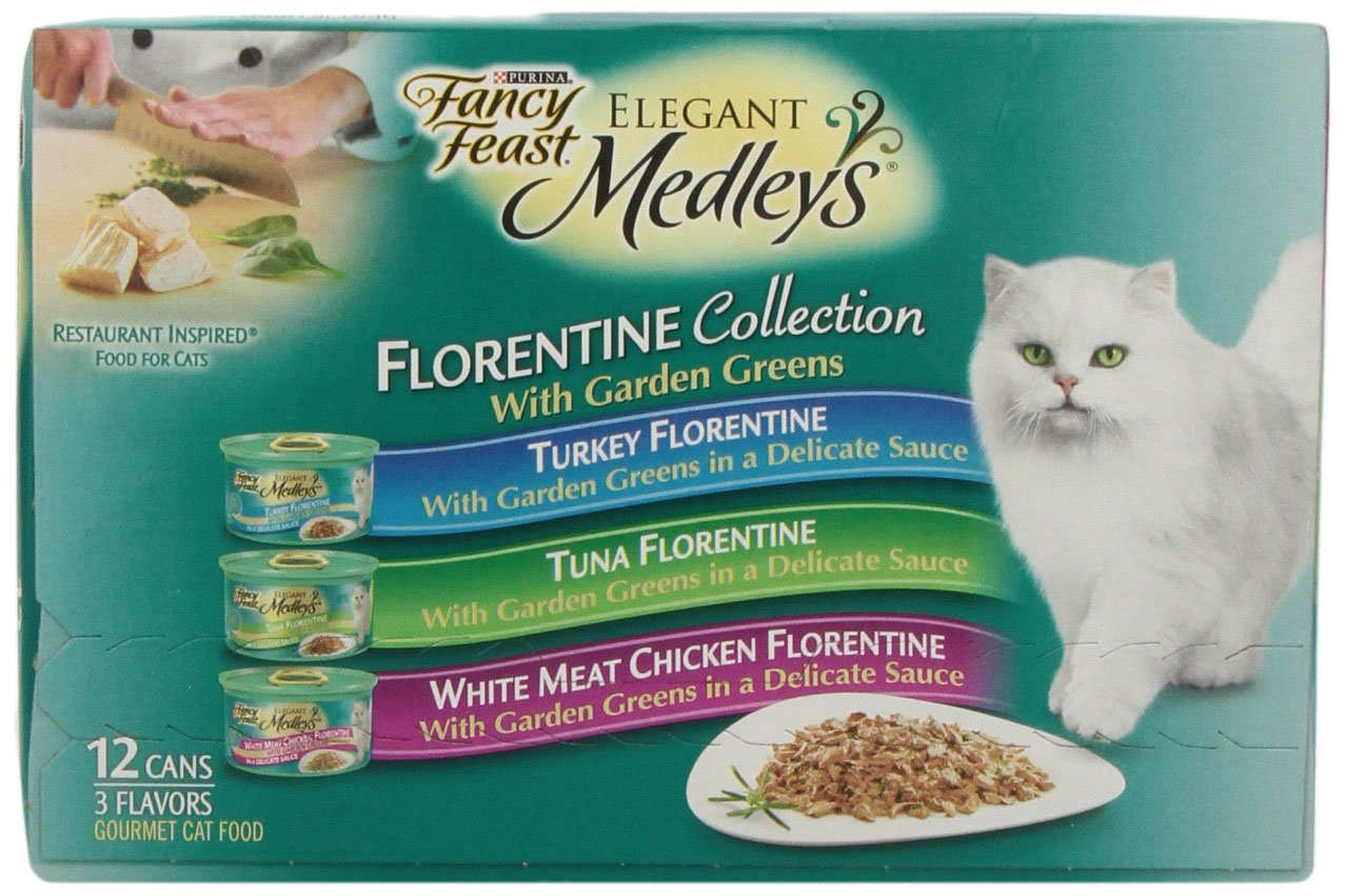 Fancy Feast Elegant Medleys Cat Food, Florentine Collection Variety Pack, 12 ct, 3 oz