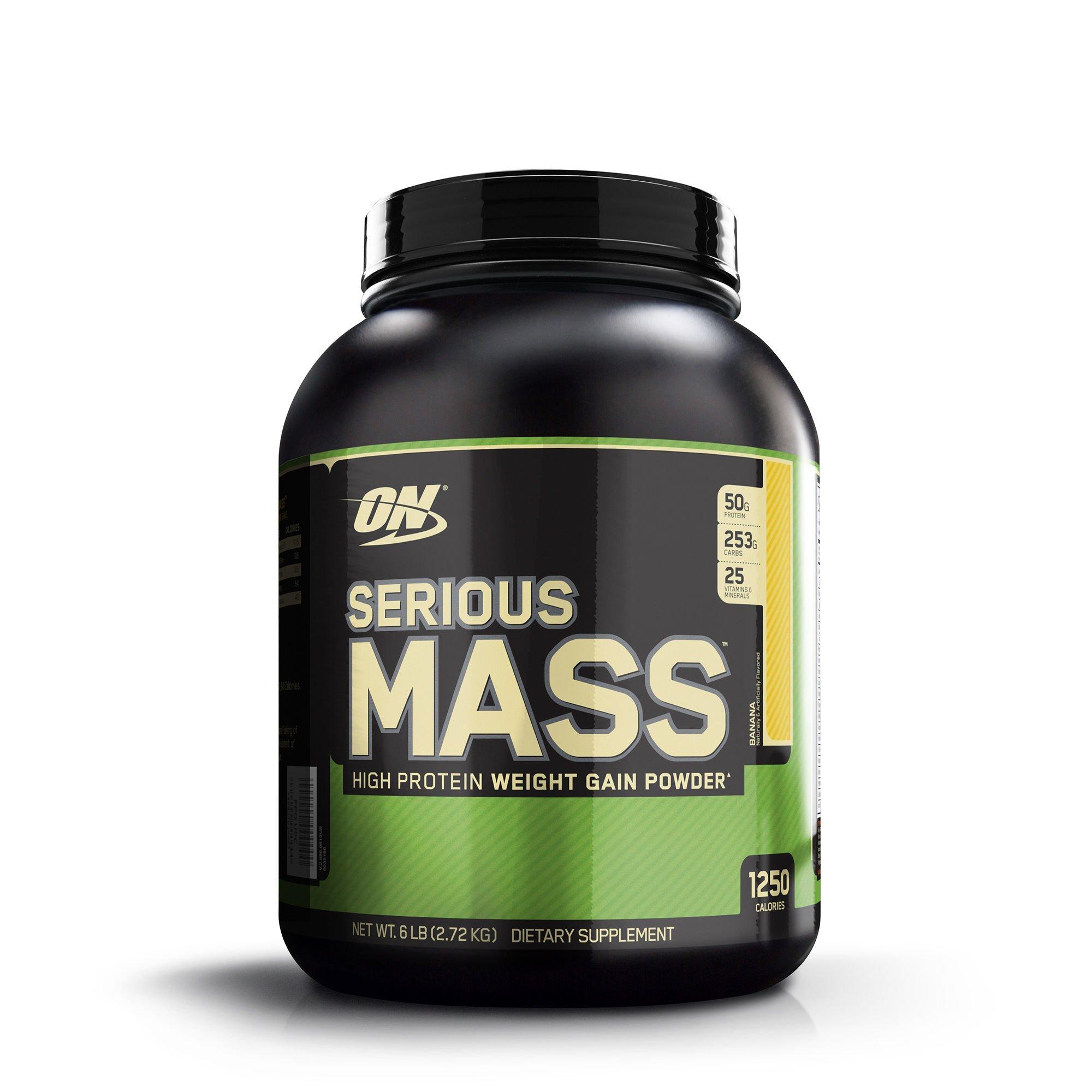 Optimum Nutrition Serious Mass High Protein Weight Gain Powder Banana 6 lb 2 72 kg