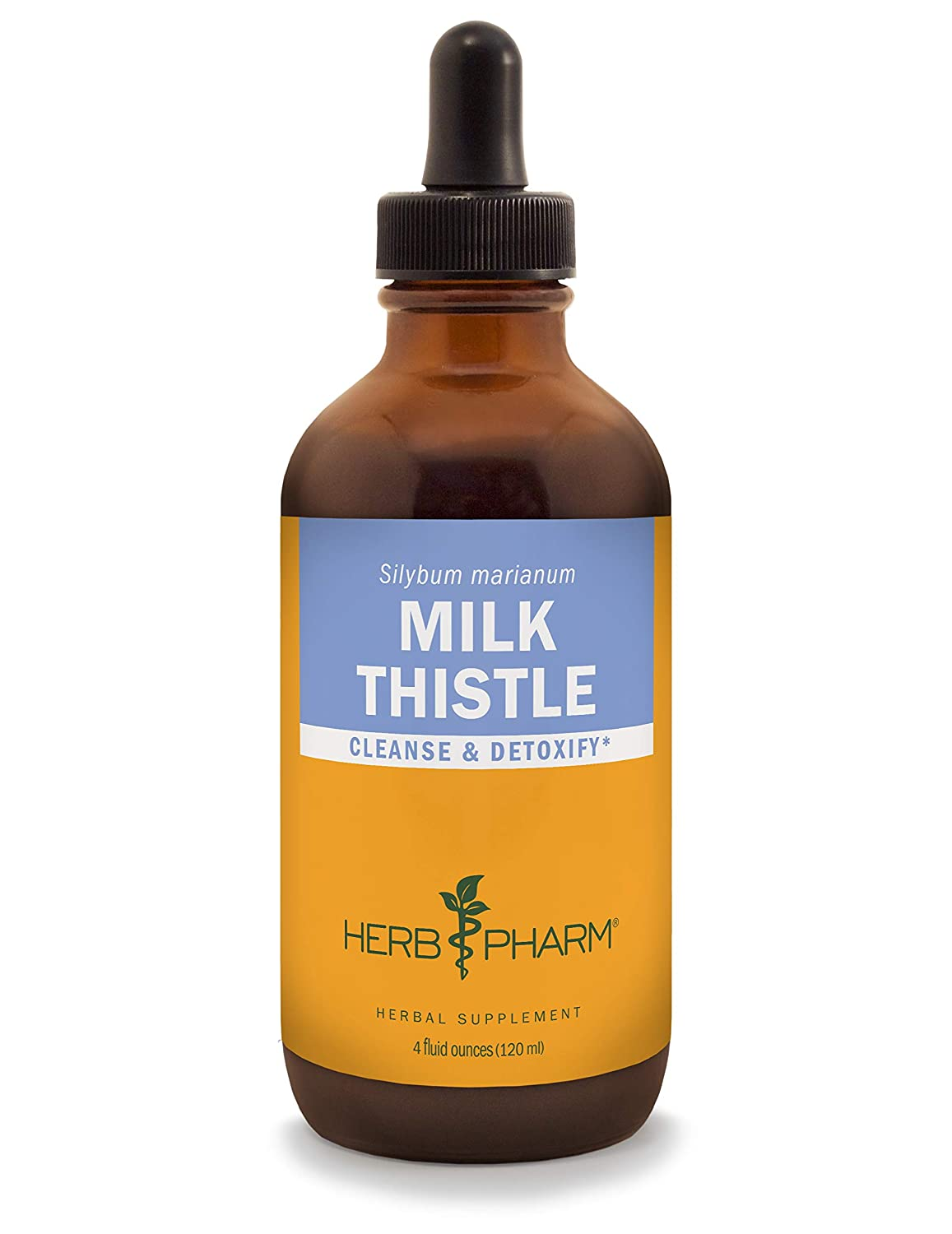 Herb Pharm Milk Thistle Seed Liquid Extract for Liver Function Support – 4 Ounce