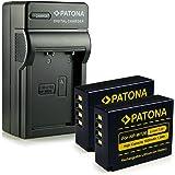 Novità - 4in1 Caricabatteria + 2x Batteria come W-126 W126 NP-W126 NPW126 con Infochip · 100% compatibile con Fuji FinePix X-Pro 1 | HS30 EXR | HS30EXR | HS-30EXR | HS33 EXR | HS33EXR | HS-33EXR