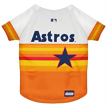 Amazon.com   Houston Astros Vintage Rainbow Pet Jersey - Medium   Pet  Supplies 6264c64ea