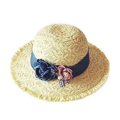NIAISI Mädchen Niedlich Denim Blume Nähen Sonnenhut Strand Hut ...
