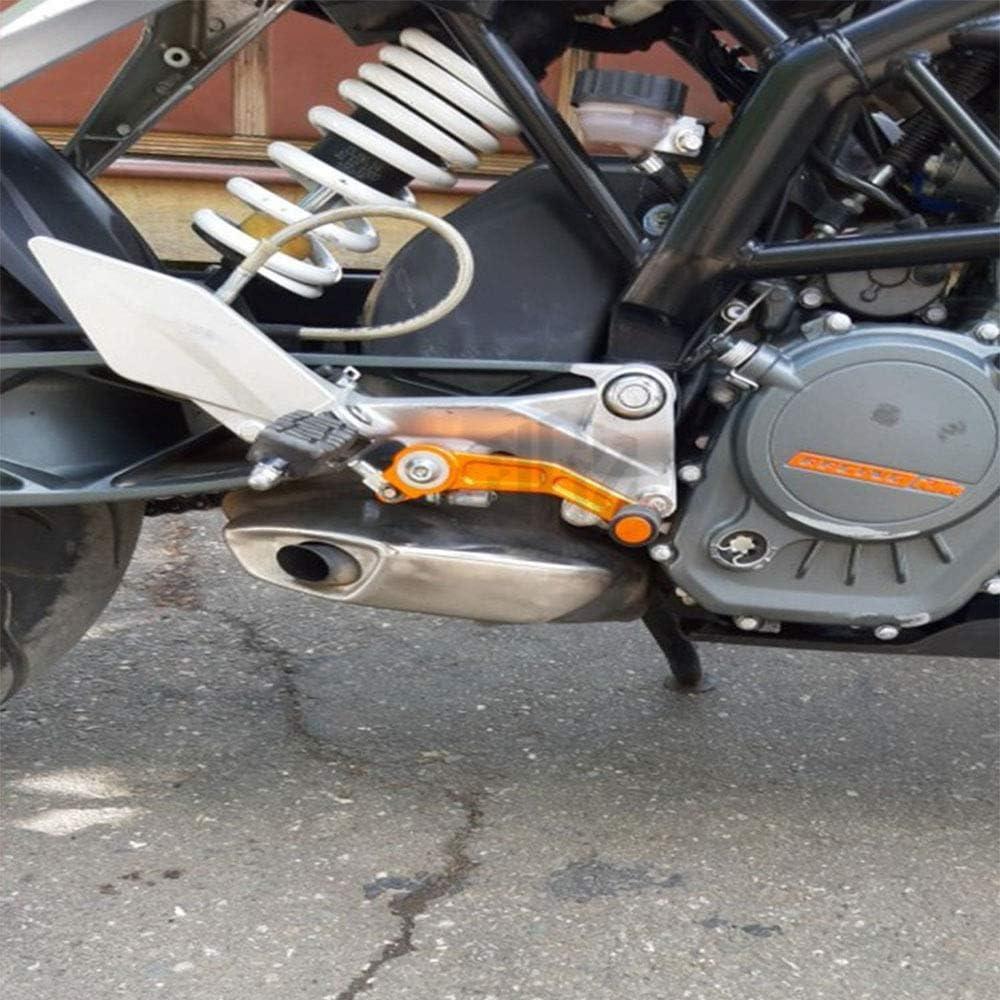 Motociclo di Alluminio di CNC Pedale del Freno Leva Leva del Cambio a Pedale Accessori Pair for KTM Duke 390 2013 2014 2015 2016 125 200 LIWENCUI Color : Orange