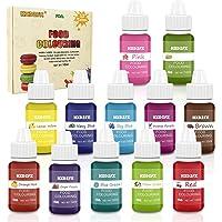 Colorante alimentario 12*10ml, Colorante Alimentario Alta Concentración Liquid Set para Colorear los Bebidas Pasteles…