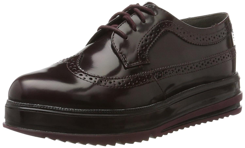 Tamaris 23700, Zapatos de Cordones Oxford para Mujer 40 EU Rojo (Bordeaux Brush)