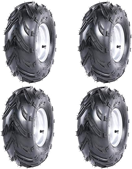 Front or Rear Tires with Rims for ATV Go Kart UTV Quad Bike Buggy Fuerduo 1PCS 16X8-7 Tubeless Tires Wheels with Rim
