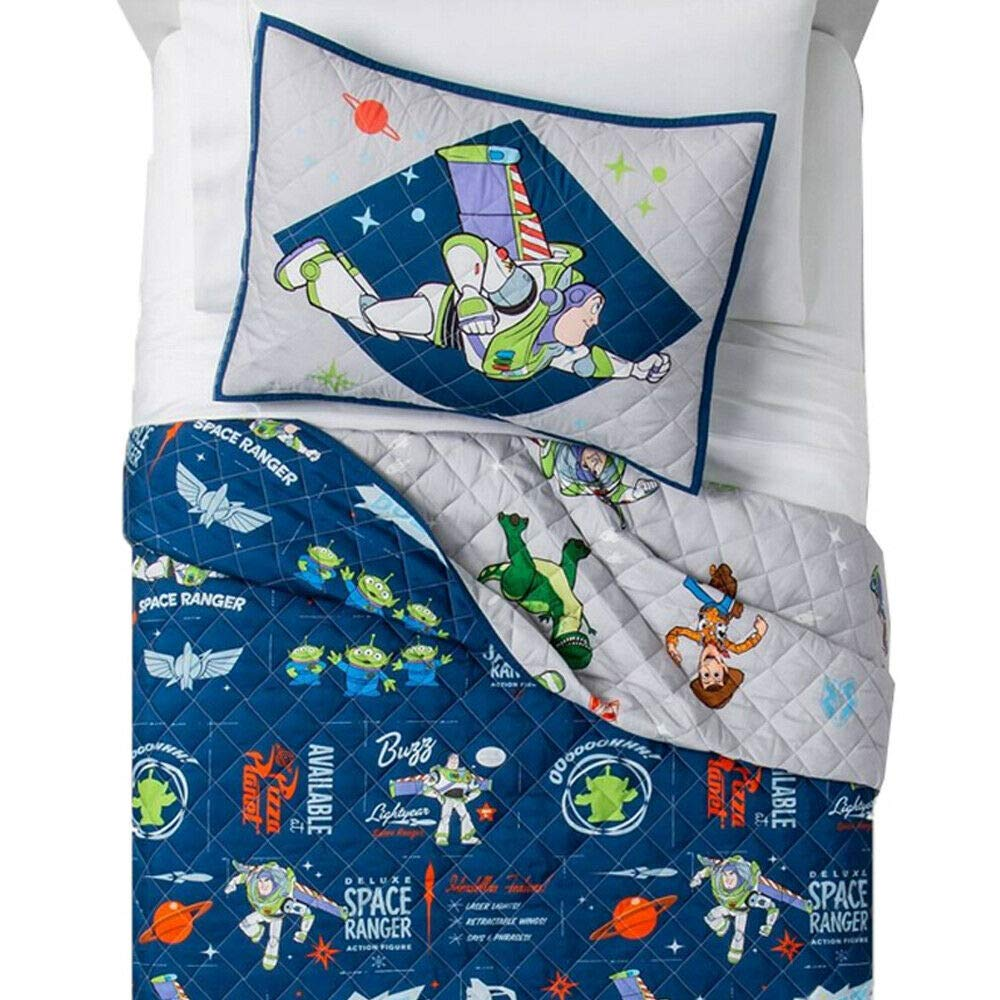 Franco Toy Story 2 Piece Twin Quilt and Sham Set Space Ranger Quilt