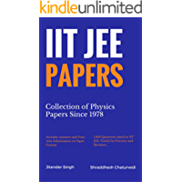 IIT JEE Papers: Collection of Physics Papers Since 1978