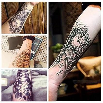 LZC 4 unidades de tatuaje temporal adulto para el hombro, para las vacaciones, mascarada