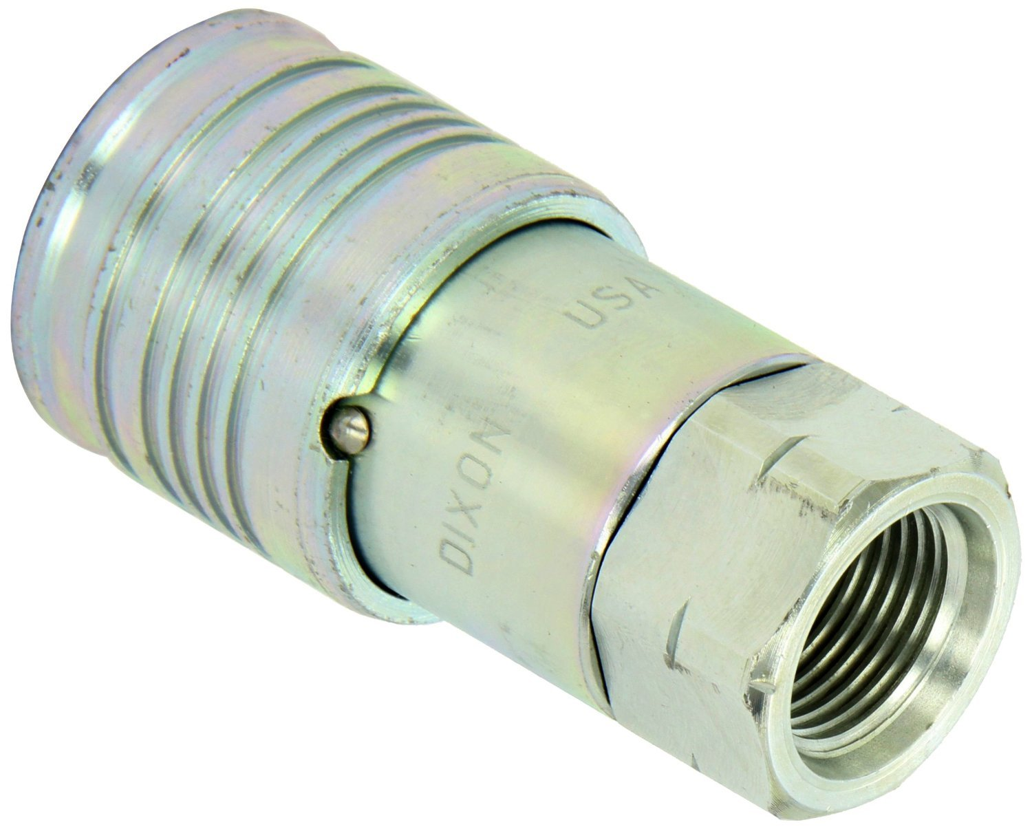 Dixon 4HTOF5 Series Steel Flush Face Hydraulic Quick-Connect Coupler, 1/2'' Coupling x 7/8''-14 SAE ORB Female