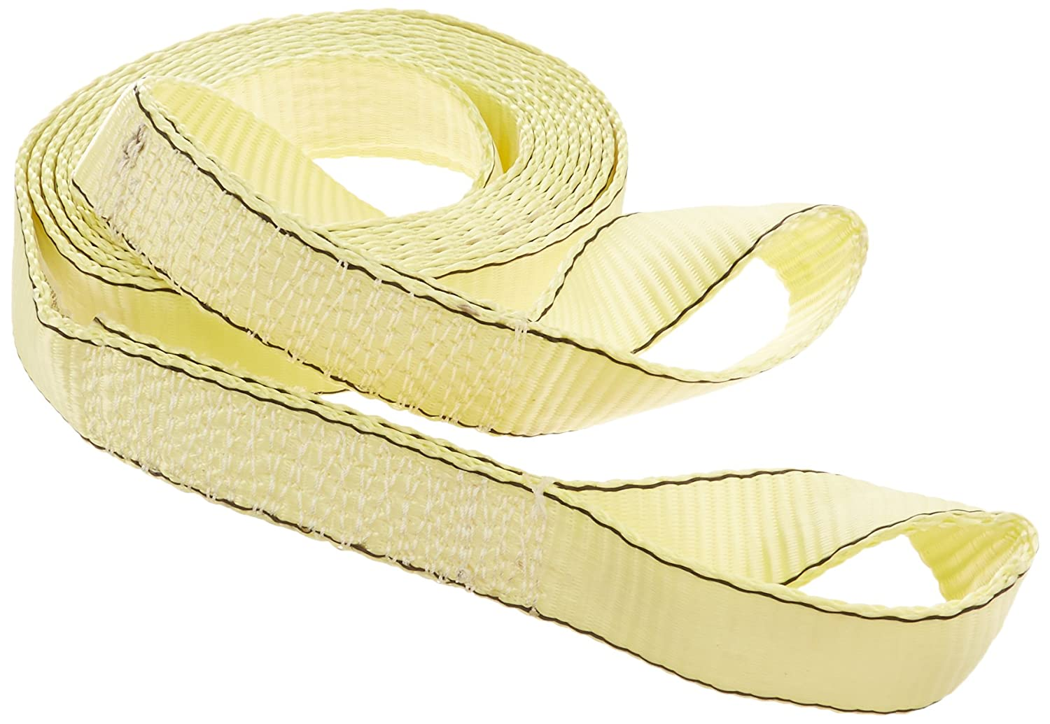 20 Yellow Tow Strap with Loop Ends 1 piece 1015200 Highland