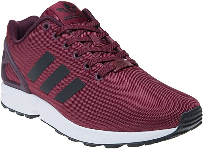 adidas ZX Flux Homme Baskets Mode Bordeaux: