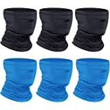 [6-Pack] Neck Gaiter Scarf, Breathable Bandana Face Bandana Cover Cooling Neck Gaiter for Men Women Cycling Hiking…