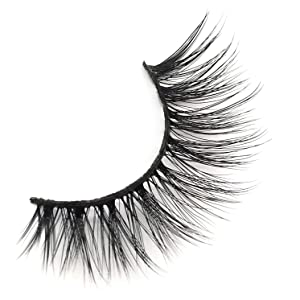 3D False Eyelashes Extension, Vodisa 6 Pairs Light Weight Makeup Handmade Lashes Dramatic Long Lashes Reusable Cruelty-Free Fake Eyelash (D)