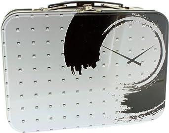 Estuche de Aluminio para Reloj Rectangular Tipo maletín Decorado Time (18,5 x 13 x 7,5 cm) - 24 Unidades: Amazon.es: Relojes