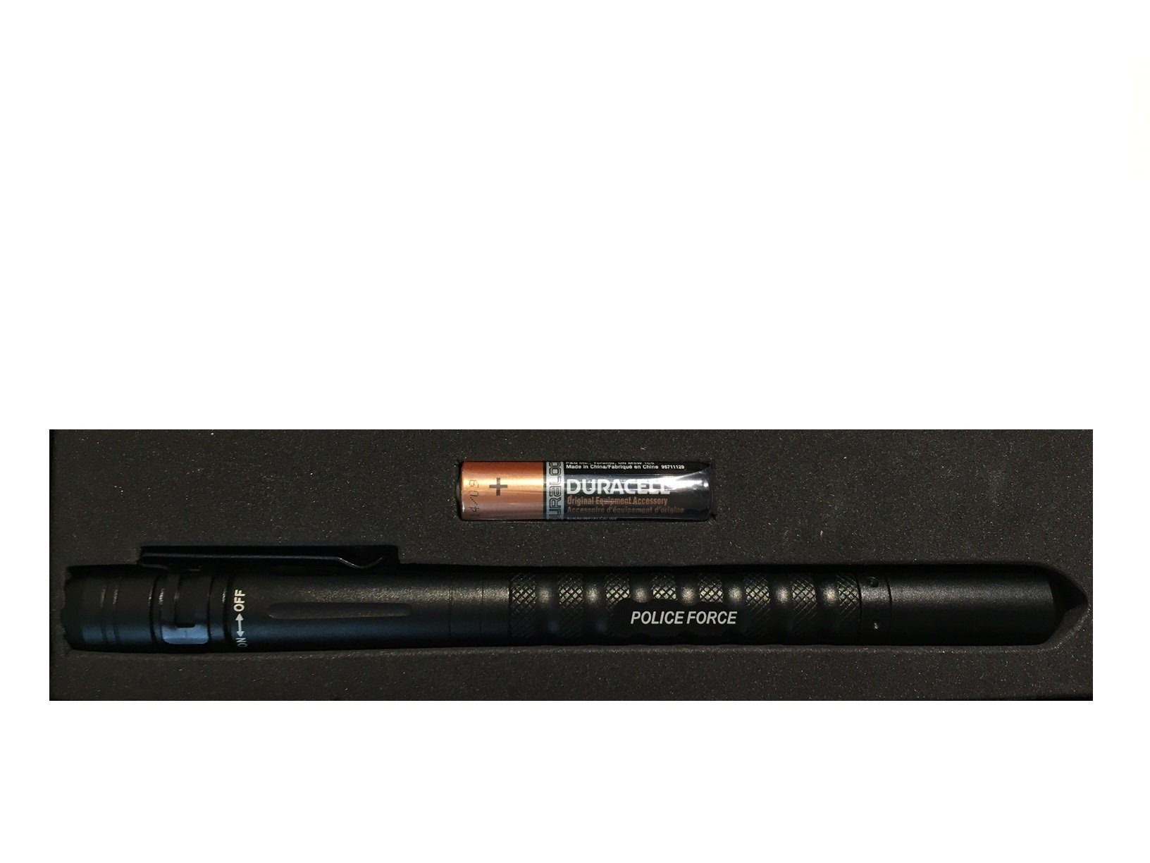 Streetwise Police Force Military Grade Tactical Pen with LED Light, DNA Tactical Edge, Water Resistant, Window Breaker, Kubotan Flashlight + AAA Battery Included for 100,000h LED Lifespan by Home Self Defense Products (Image #3)