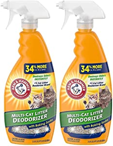 Arm and Hammer Cat Litter Deodorizer Spray, 21.5 Fl Oz [2-Pack]