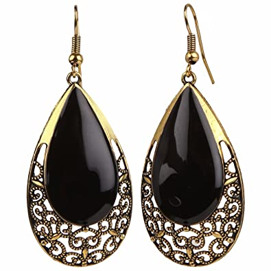 8aef61fba Buy Efulgenz Oxidised Black Gold Plated Dangle & Drop Earrings For Girls  And Women Online at Low Prices in India | Amazon Jewellery Store - Amazon.in