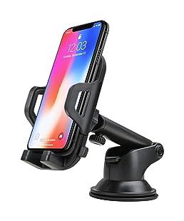 FayTun - Supporto per cellulare da auto, con giunto a sfera girevole a 360°, compatibile con Samsung, iPhone, Huawei, HTC, Nokia, Sony e tutti gli altri smartphone