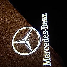 Amazon Aohongメルセデスベンツ カーテシライト フェードなしドアランプ ロゴ カーテシランプ メルセデスベンツ 車用 Ledロゴ投影 For Mercedes Benz ガラスレンズ 第三代 カーテシーランプ 車 バイク