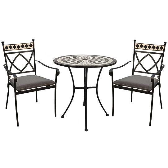 LeisureGrow Casablanca 76 cm Table ronde de salle à manger avec ...