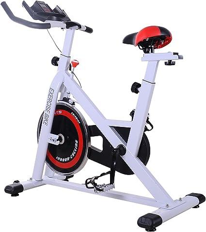 HOMCOM Bicicleta estática Profesional para Entrenamiento Fitness ...