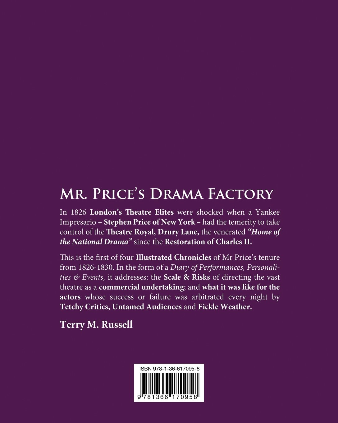 Account application form for mr price - Drury Lane Drama Factory Stephen Price Yankee Impresario Part 1 1826 27 Terry Russell 9781366170958 Amazon Com Books