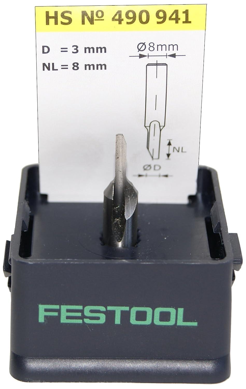 Festool 490941 HS Nutfrä ser HS-Stahl S8 D3/8