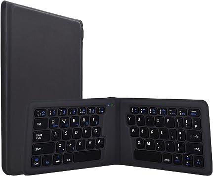 Plegable Bluetooth Teclado ergonómico teclado inalámbrico ultrafino magnética plegable teclado para tablets iPhone iPad Samsung Galaxy LG Sony Google ...