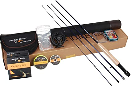 Amazon Com Angler Dream Fly Fishing Rod And Reel Combo 3 Wt Fly Fishing Combo For Starter 4 Pieces Fly Rod Kit Sports Outdoors