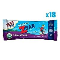 18-Cnt CLIF KID ZBAR Organic Energy Bar Chocolate Chip 1.27Oz