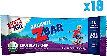 18-Count Clif Kid Zbar Chocolate Chip Organic Energy Bar (1.27 oz)