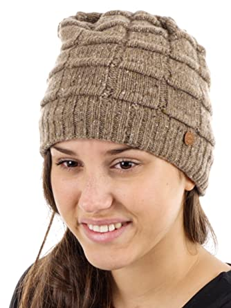 CMP Beanie Strickmütze Wintermütze grau Fleecefutter Muster warm