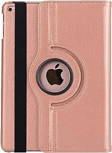 inShang iPad Case 10.2 Inch 2020 iPad 8th Generation Case & iPad 7th Generation Case 2019 Pu Leather 360 Degree Rotation Smart Sleep Wake iPad 7/8 Case Cover